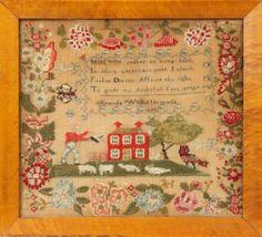 Needlework sampler, Philadelphia, USA c. 1832