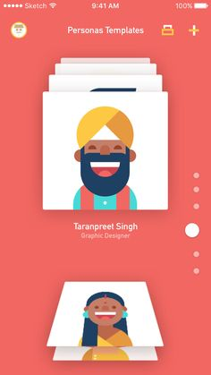 All personas card vi. Web Design, App Ui Design, User Interface Design, Graphic Design, Personas Design, Card Ui, App Design Inspiration, Mobile Ui Design, User Experience Design
