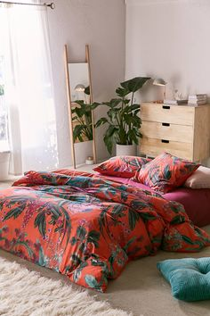 Elle Floral Scarf Duvet Cover | Urban Outfitters