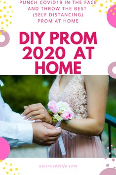 Throw The Best (Self Distancing) Prom At Home - OptimizedLife Homecoming Dance, Senior Prom, Senior Year, Wedding Reception Centerpieces, Graduation Centerpiece, Candle Centerpieces, 8th Grade Dance, Masquerade Theme, Prom Themes