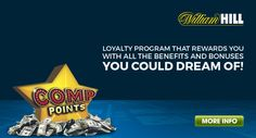 William Hill Casino offers all its players the opportunity to join an exclusive loyalty program that rewards you with all the benefits and bonuses you could dream of!