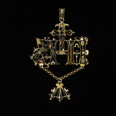 Pendant | Europe (north, made)  Date: 1580-1600 (made)  Artist/Maker: Unknown (production)  Materials and Techniques: Gold, set with hog-back diamonds