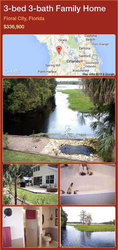 3-bed 3-bath Family Home in Floral City, Florida ►$336,900 #PropertyForSaleFlorida http://florida-magic.com/properties/64573-family-home-for-sale-in-floral-city-florida-with-3-bedroom-3-bathroom