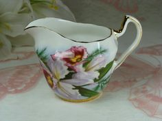 Beautiful Little Bone China Porcelain Creamer by HappyGalsVintage