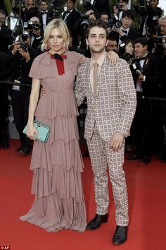 Firm friends: Sienna walked the red carpet along with fellow Cannes juror, French-Canadian actor Xavier Dolan