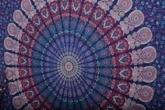 Indian Mandala Tapestry Wall Hanging Bohemian Queen by Labhanshi