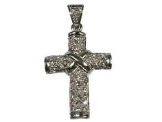 ANHÄNGER 750 DIAMANT D-0,69 #Kreuz #cross #diamonds #Diamanten #Gold