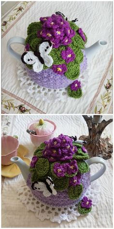 These Knitted Tea Cosy Patterns Are Super Cute Crochet Tea Cosy Free Pattern, Tea Cosy Pattern, Tea Cozy Crochet, Crochet Geek, Form Crochet, Hand Crochet, Diy Crafts To Do, Geek Crafts, Baby Knitting Patterns