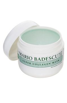 Mario Badescu 'Super Collagen' Mask available at Nordstrom Mario Bedescu, Beauty Care, Beauty Hacks, Beauty Tips, Dry Skin On Feet, Magical Makeup, Beauty Junkie, Acne Skin, Hair