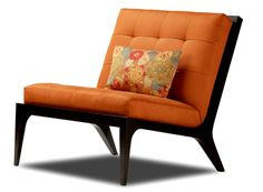 Portfolio Park Avenue Orange Spice Medallion Arm Chair And Ottoman By  PORTFOLIO | To Be, Colors And Chairs