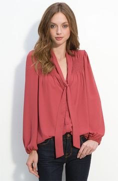 Bellatrix Tie Front Blouse  This would look great with the High Waisted Trousers or a beautiful skirt.