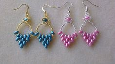Quick and Easy Mariette Earrings with SuperDuo Beads - YouTube