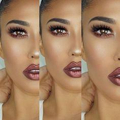 @brittanybearmakeup wearing •TEDDY• metallic liquid matte lipstick from our ~Dare To Dazzle Trio~ ✨ #DoseofColors