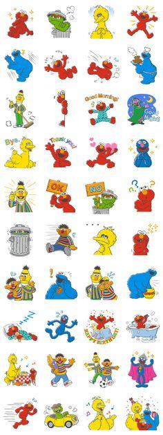 Elmo Wallpaper, Wallpaper Iphone Disney, Cute Disney Wallpaper, Cookie Monster Drawing, Monster Stickers, Doodle Characters, Muppet Babies, Sesame Street Birthday, Programming For Kids