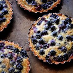 Browned Butter Blueberry Tarts