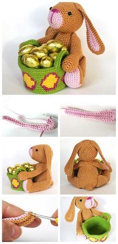 Mesmerizing Crochet an Amigurumi Rabbit Ideas. Lovely Crochet an Amigurumi Rabbit Ideas. Easter Crochet Patterns, Crochet Dolls Free Patterns, Crochet Bunny, Amigurumi Patterns, Amigurumi Doll, Crochet Animals, Crochet Toys, Quick Crochet, Cute Crochet