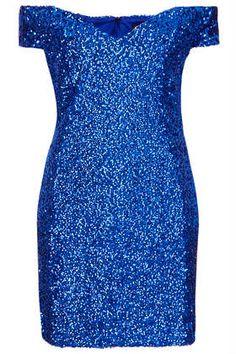 **Off Shoulder Sequin Dress by Rare #topshop