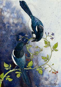2 pour la peinture originale de joie par Danielle Barlow