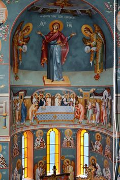 Themis Petrou - Saint Dioniso's Church - Find Creatives Saint Anthony Church, Nashville Tennessee, Athens Greece, Fresco, Saints, Icons, Interiors, Artists, Creative