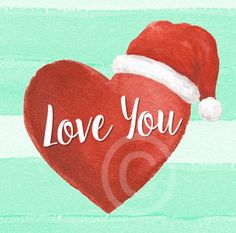 This cute Christmas Image is ideal to add to all your Christmas messages! Christmas Hearts, Christmas Messages, Christmas Images, Christmas Fun, Online Message, Little Gifts, Watercolor Paper, Gift Tags, Goodies