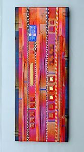 Fruit Red Wall Panel by Mark Ditzler: Art Glass Wall Sculpture available at www.artfulhome.com