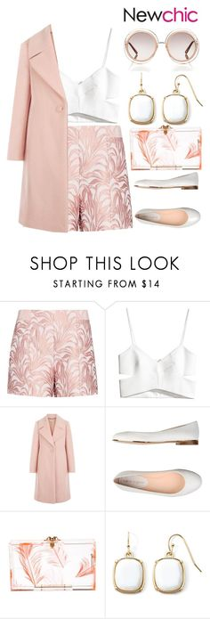 """""""Rush Job"""" by pearls-and-peacocks ❤ liked on Polyvore featuring Exclusive for Intermix, H&M, Hobbs, Carlo Pazolini, Charlotte Olympia, Liz Claiborne and Chloé"""