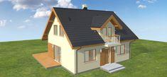 Projekt domu Armanda Mała 117,01 m2 - koszt budowy - EXTRADOM Malaga, Home Fashion, My Dream Home, Shed, Outdoor Structures, Cabin, House Styles, Home Decor, My Dream House