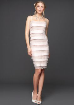 Layered Lace Satin Dress White 4