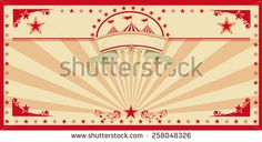 Circus card red vintage. An invitation card for your circus company.