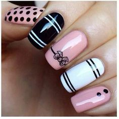 Cute Bow Nail Designs 27 Bow Nail Art When you are looking for inspirations on your nails, you will be amazed by the infinite ideas of . Black Acrylic Nails, Acrylic Nail Art, Acrylic Nail Designs, Fancy Nails, Trendy Nails, Pink Nails, White Nails, Black Nails, Sexy Nails