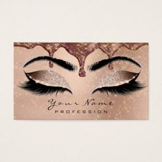 Makeup Eyebrow Eyes Lashes Glitter Rose Sparkl Wax Business Card - stylist business cards cyo personalize businesscard diy
