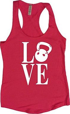 "Blue Racerback Workout Tank - ""Kettlebell LOVE"""