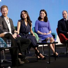 Prince Harry, Meghan Markle, Duchess of Cambridge and Prince William