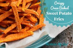 These are the ultimate crispy sweet potato fries!  Fool proof recipe!  Baked in less than 20 minutes!  Paleo & Vegan.