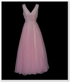 1e394f5fb29b 70s Pale Pink Mike Benet Sequin Party Dress, Looking Gorgeous, Vintage 70s,  Full