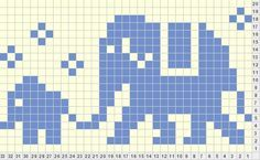 counted cross stitch charts for baby animals in pixel blocks - Google Search