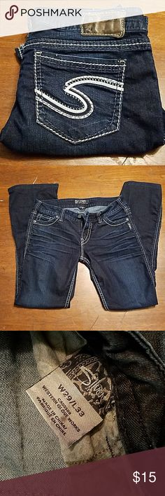 Silver jeans size 29 Size 29 Beautiful pair of jeans   They have been altered, just the bottoms  Tailored to my height. I am 5'3 1/2 Silver Jeans Jeans Boot Cut