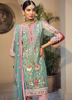 Anaya Luxury Wedding 2019 Designer Salwar Suit-Yasmin and image 6 Latest Pakistani Fashion, Pakistani Outfits, Pakistani Salwar Kameez, Shalwar Kameez, Kurti, Walima Dress, Pakistani Designers, Embroidered Clothes, Online Dress Shopping