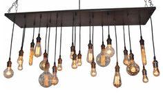 Edison Bulb Chandelier With A Rustic Industrial Feel loft-lyustry