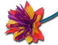 tissue paper flowers for kids | Indesign Arts and Crafts