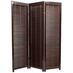 To seperate the bed and bath. Wooden Shutter Room Divider at HSN.com