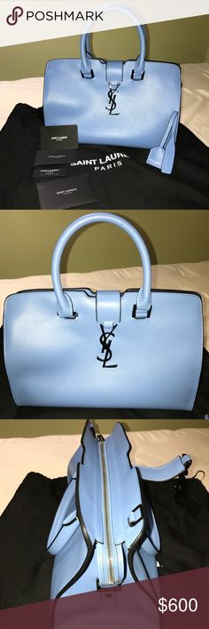 5b42bd804ae YSL Baby Blue Bag Beautiful YSL, Awesome color Yves Saint Laurent Bags Totes