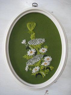 Vintage Beaded Embroidery/Needlecraft/Crewel by RedWingedVintage