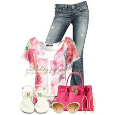 """Butterfly Top"" by casuality on Polyvore"