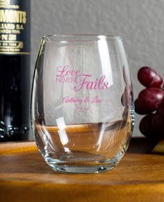 9 oz stemless wine glass wedding favor favors for your wedding bridal shower party baby shower and other events