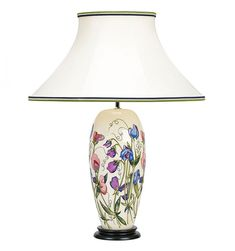 Moorcroft Pottery Table Lamps available from The Sissons Gallery Table Lamp Shades, Table Lamps, Table And Chairs, Ceramic Design, Floor Lamps, Lampshades, Bottles, Pottery, Sofa