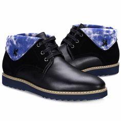 Black Leather Lace Up Modern Vintage Dress High Tops Shoes Boots Men SKU-1100527