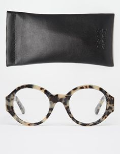 e9932ef13cd3 ASOS Handmade Round Optical Glasses With Chunky Arms