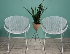 VINTAGE 2 MID CENTURY SALTERINI PATIO CHAIR by TheModernHistoric