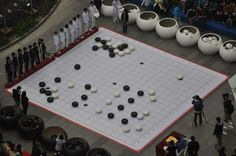 A giant game of Go